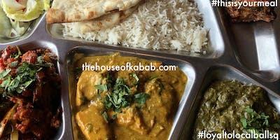 BallSqThrives: Thali (Indian food), No Bridge, and Conversation