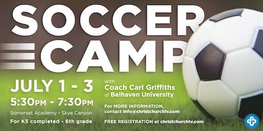 Northwest Las Vegas Soccer Camp-JULY 1-3, 2019