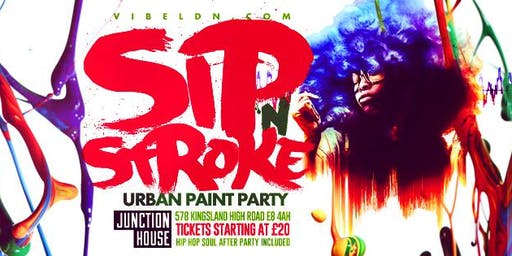 SIP 'N STROKE 8pm-11pm (Urban Paint Party)
