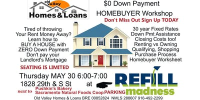 $0 Down Payment Homebuyer Workshop May 30th