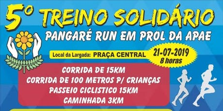 5° Treino Solidário Pangaré Run ingressos