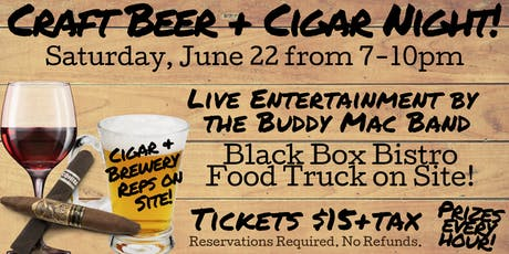 Craft Beer and Cigar Night tickets