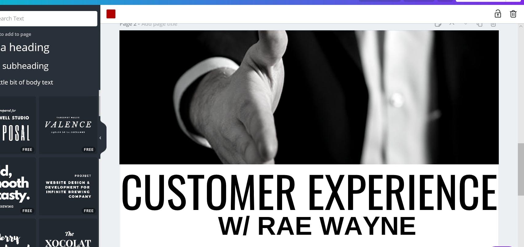 Customer Experience w/ Rae Wayne
