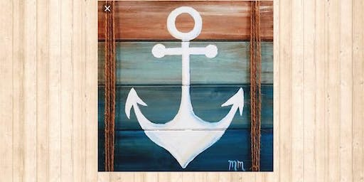 Anchor Wood Pallet Art- tickets sales close at 4pm day of