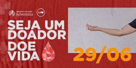 Doação de Sangue ingressos