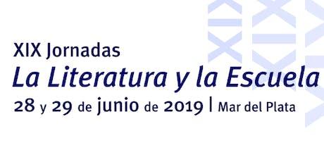 """XIX Jornadas """"La literatura y la escuela"""" de Jitanjáfora ONG entradas"""