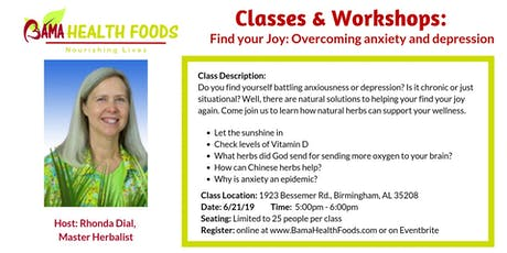 Find your Joy: Overcoming anxiety and depression tickets