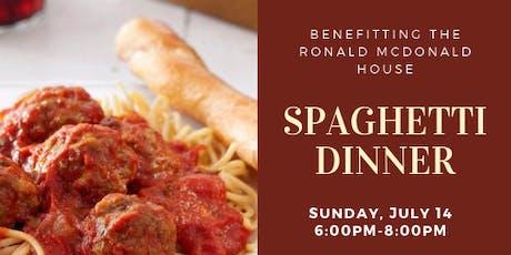 Spaghetti Dinner (fundraiser for RMH) tickets