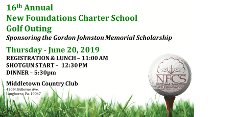 16th Annual New Foundations Charter School Golf Outing  tickets