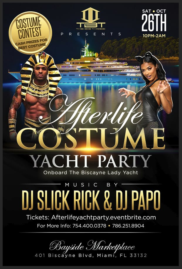 Afterlife Costume Yacht Party | Halloween 2019