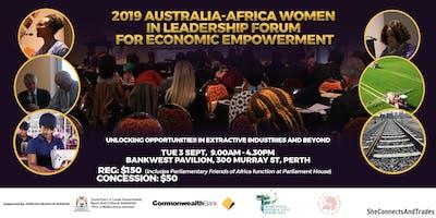 2019 AUSTRALIA-AFRICA WOMEN IN LEADERSHIP FORUM FOR ECONOMIC EMPOWERMENT