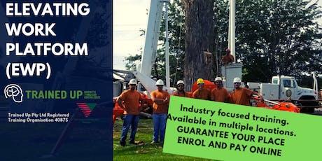 Elevating Work Platform (EWP) – Boom/Scissor Lift Over 11 metres ticket tickets