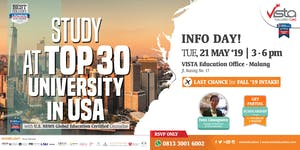 STUDY AT TOP 30 UNIVERSITY IN USA - Info Day Malang