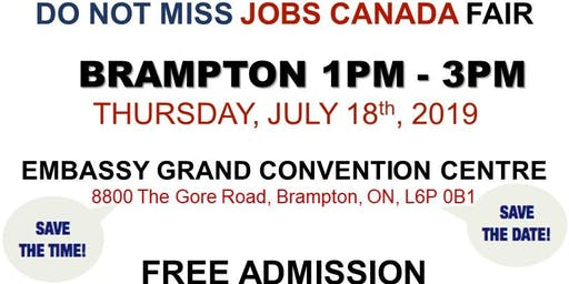 Free: Brampton Job Fair - July 18th, 2019