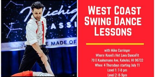 West Coast Swing Dance Lessons