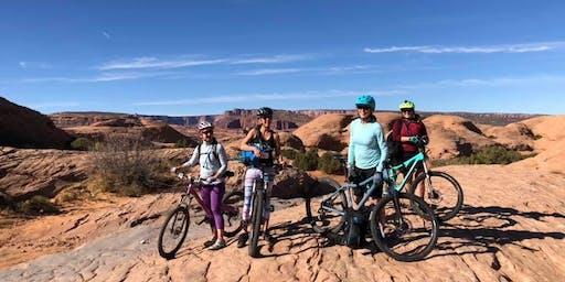 Women's mountain biking training group