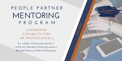 People Partner Mentoring Program: Leadership for HR Practitioners