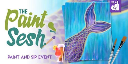 """Paint night in Riverside, CA – """"Mermaid Vibes"""""""