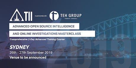 Advanced Open Source Intelligence & Online Investigations (Sydney) tickets