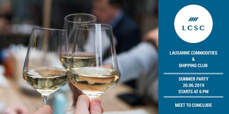 Lausanne Commodities & Shipping Drink - 20st, June 2019 tickets