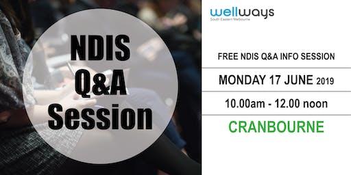 Wellways NDIS Q&A Info Session_Cranbourne
