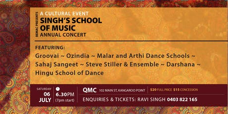 BEMAC presents A Cultural Event - Singh's School of Music tickets