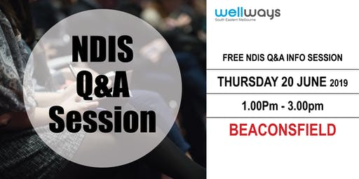 Wellways NDIS Q&A Info Session_Beaconsfield