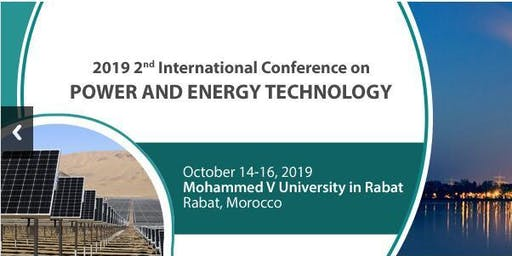 2nd International Conference on Power and Energy Technology (ICPET 2019)