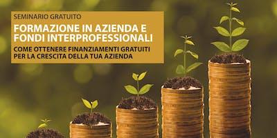 SEMINARIO GRATUITO Formazione in azienda e fondi interprofessionali