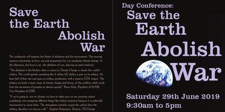 "MAW Day Conference ""Save the Earth, Abolish War"" tickets"
