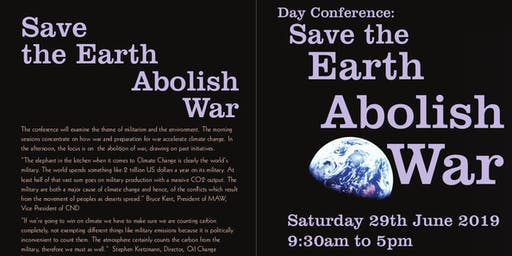 """MAW Day Conference """"Save the Earth, Abolish War"""""""
