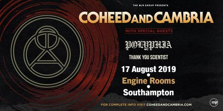 Coheed and Cambria (Southampton, Engine Rooms) tickets