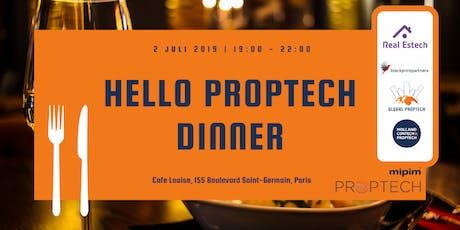 Hello PropTech Dinner billets