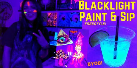 BLACKLIGHT freestyle painting during ArtWalk tickets