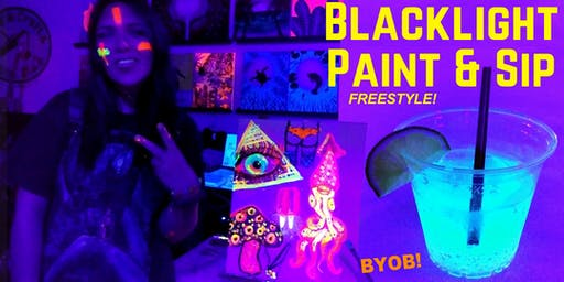 BLACKLIGHT Freestyle Painting during ARTWALK