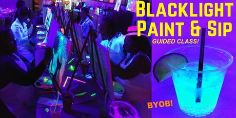 "BYOB BLACKLIGHT/Glow Paint Class - ""Rainbow Pop"" tickets"