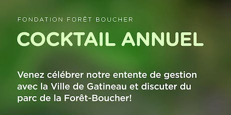 Cocktail annuel de la Fondation forêt Boucher tickets