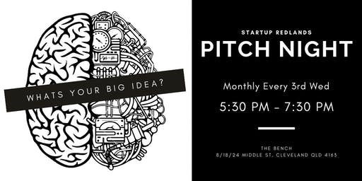 Startup Redlands - Pitch Night 17 July 2019