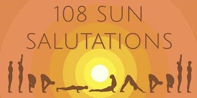 108 Sun Salutations for International Yoga Day & Summer Solstice 2019