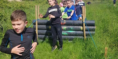 Kids 1K Inflatable Ninja Warrior course part of the Mudmayhem Weekend