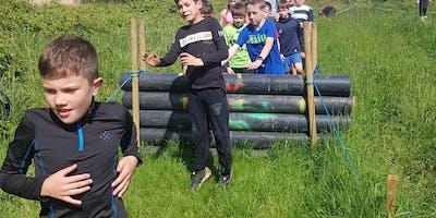 Kids 1K Inflatable Ninja Warrior course part of the Mudmayhem Weekend