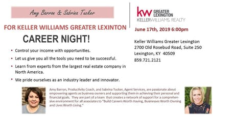 Keller Williams Greater Lexington Career Night  tickets