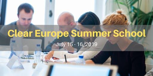 Clear Europe Summer School
