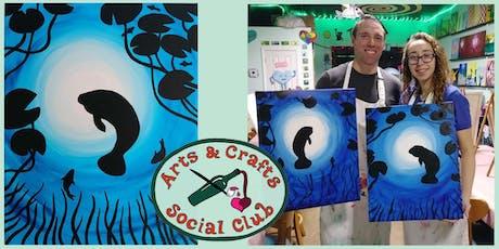 "BYOB Painting Class - ""Manatee"" tickets"