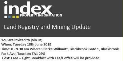 Networking Breakfast Briefing – Land Registry and Mining Update