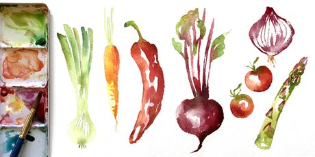 INTRODUCTION TO WATERCOLOUR WORKSHOP: Loose & Easy Vegetables  tickets
