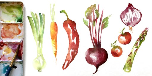 INTRODUCTION TO WATERCOLOUR WORKSHOP: Loose & Easy Vegetables