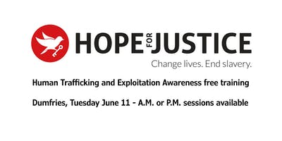 Human Trafficking and Exploitation Awareness free training, Tuesday June 11th - morning or afternoon sessions available