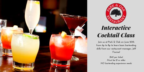 Interactive Cocktail Class tickets