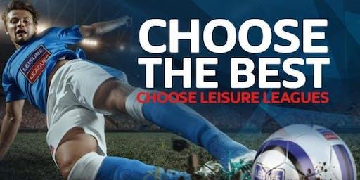 Leisure Leagues, 6 a side Football at Greenbank High School.